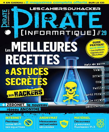 Pirate Informatique N°29 - Mai-Juillet 2016