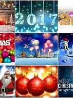100 Beautiful Christmas 2017 HD Wallpapers Mix 1